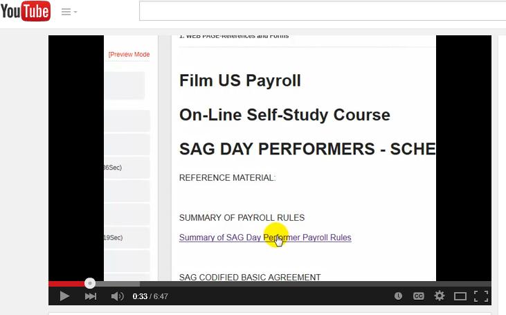 On Line Film Payrollfilm Production Payrollself Study Film Payroll